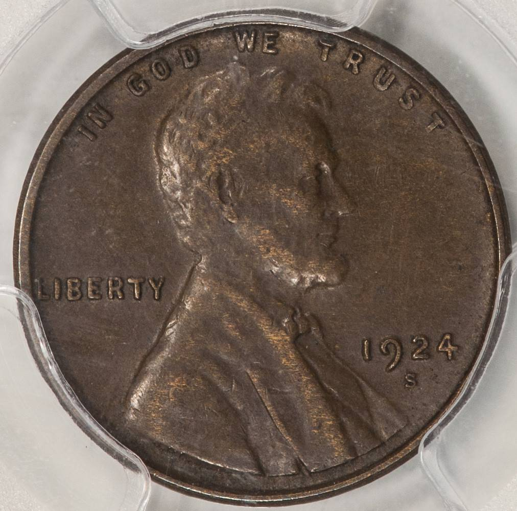 1924 S PCGS XF45 Lincoln Cent