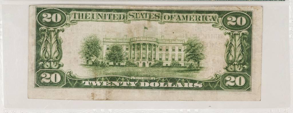 1929 Ty.1 PMG VF35 $20 Monett Missouri National Bank Note CH#5973