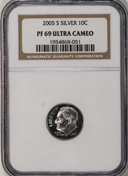 2005 S NGC PF69 Ultra Cameo Roosevelt Dime