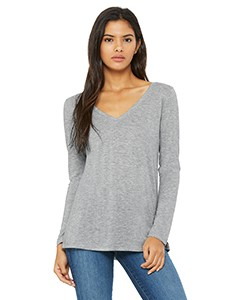 Retro Circle Striper V- neck Lounge Top