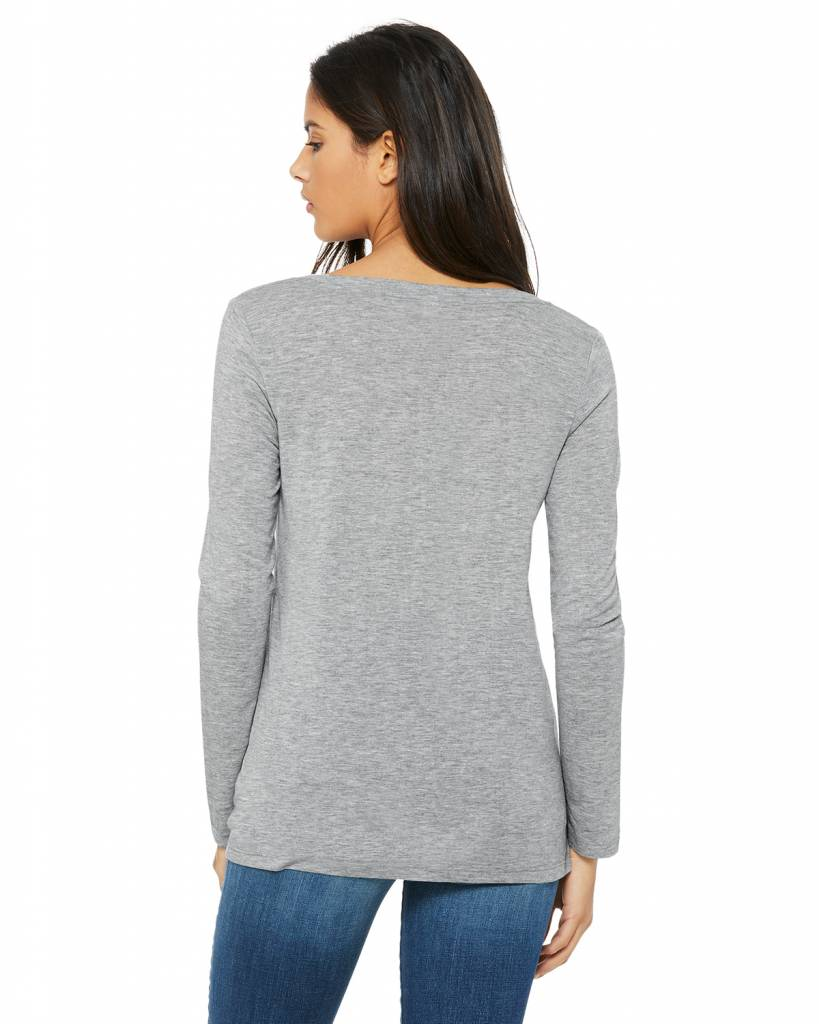 Flowy V- neck Long Sleeve Lounge Top
