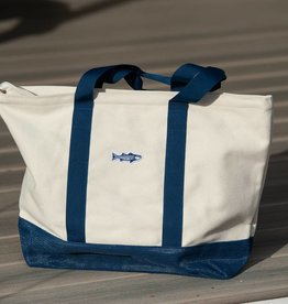Sand Free Canvas Striped Bass Tote