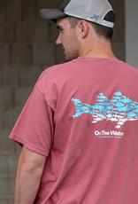 Ombre Multifish S/S Tee - Crimson