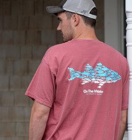 Ombre Multifish Tee - Crimson