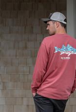 Ombre Multifish Longsleeve - Crimson