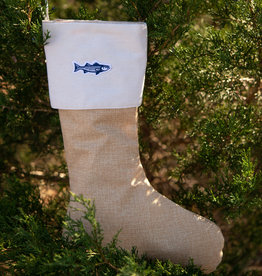 Striped Bass Christmas Stocking