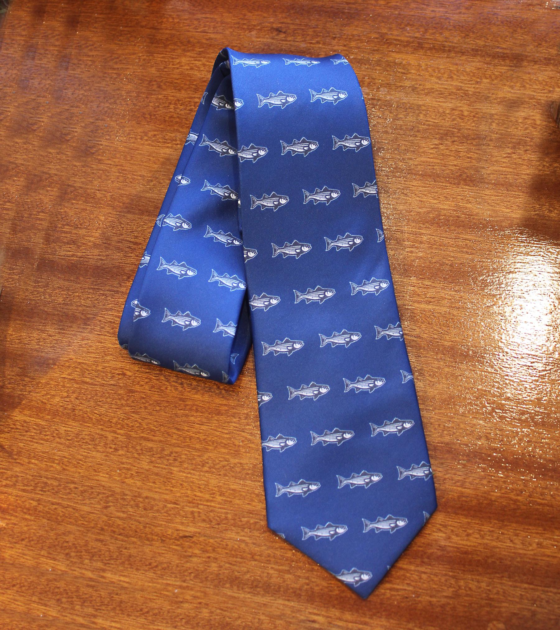 Knotty Tie Striped Bass Necktie