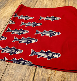 Striped Bass Bandana Red