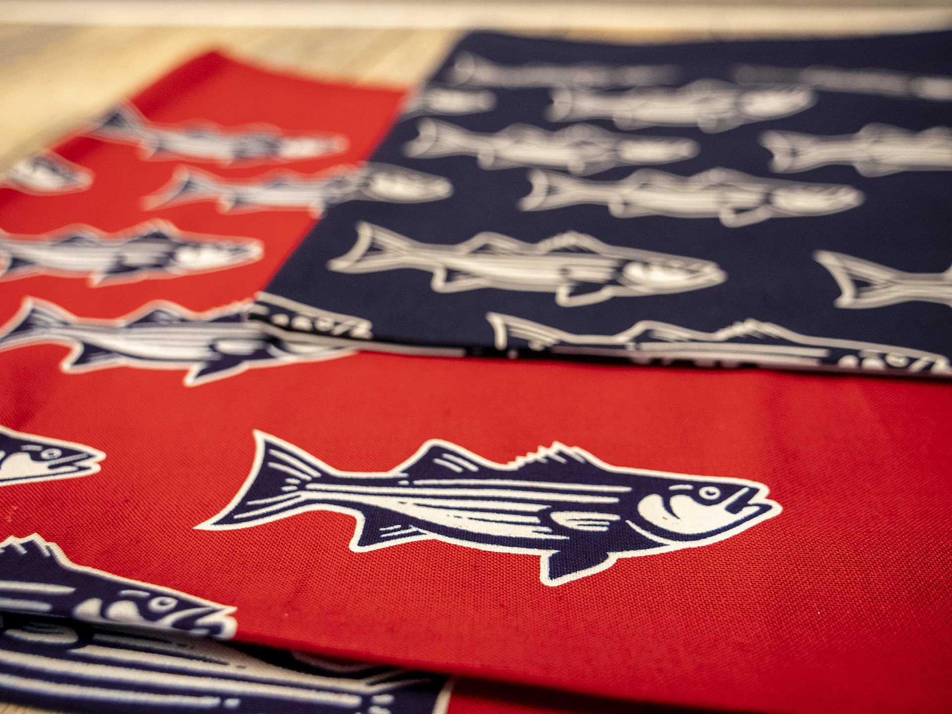 Striped Bass Bandana Navy