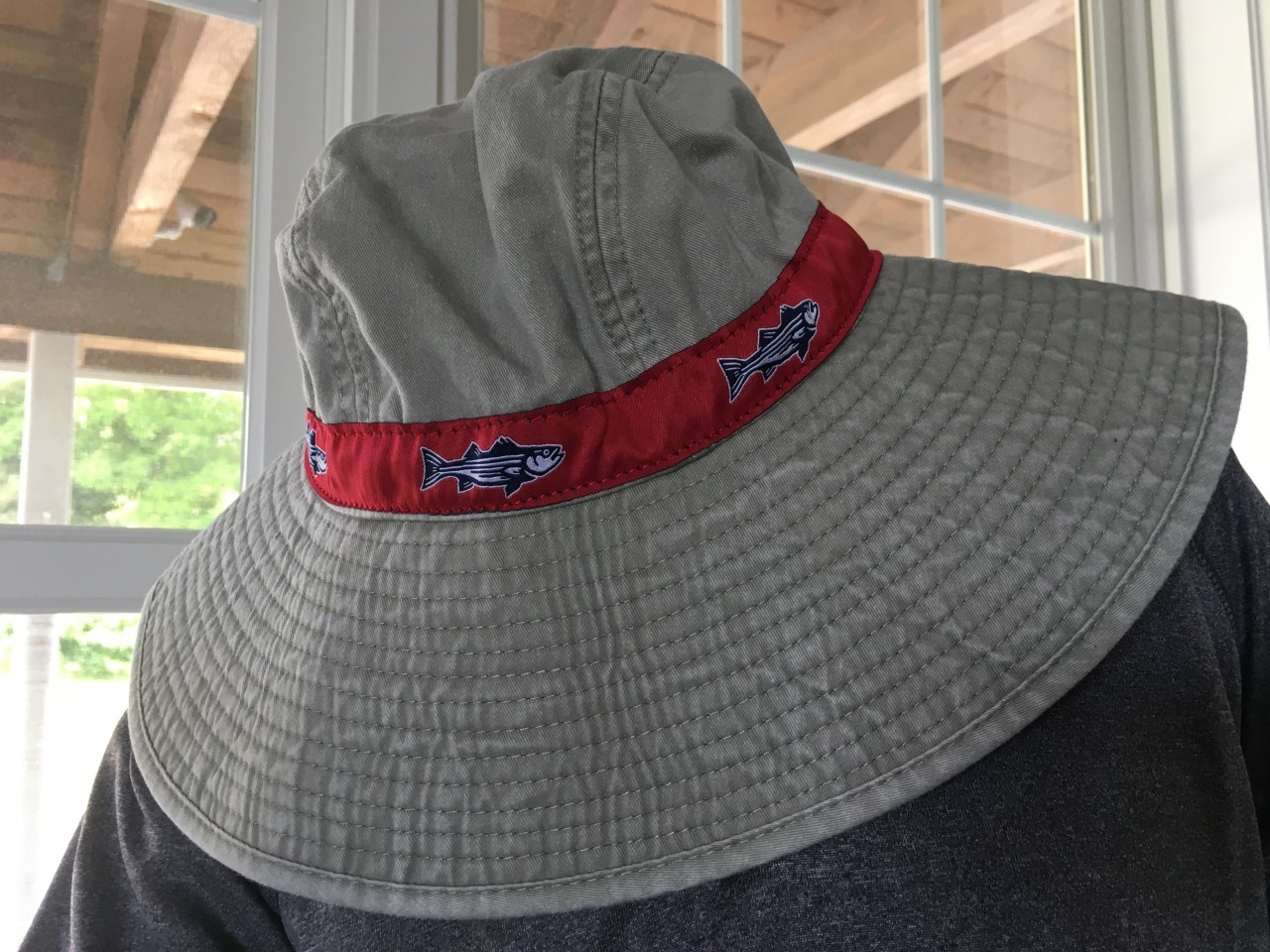 Striper Ribbon Bucket Hat