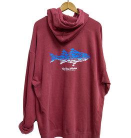 Ombre Multifish Crimson Hooded Sweatshirt