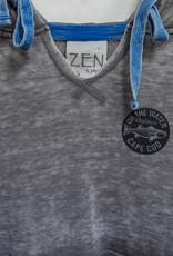 Zen Hooded Striper Lounge Hoodie