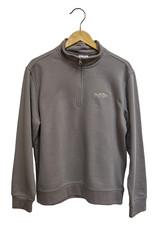 Stripers & Suede 1/4 zip Pullover