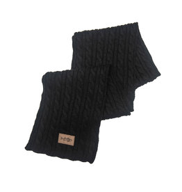 Striper Suede Patch Scarf