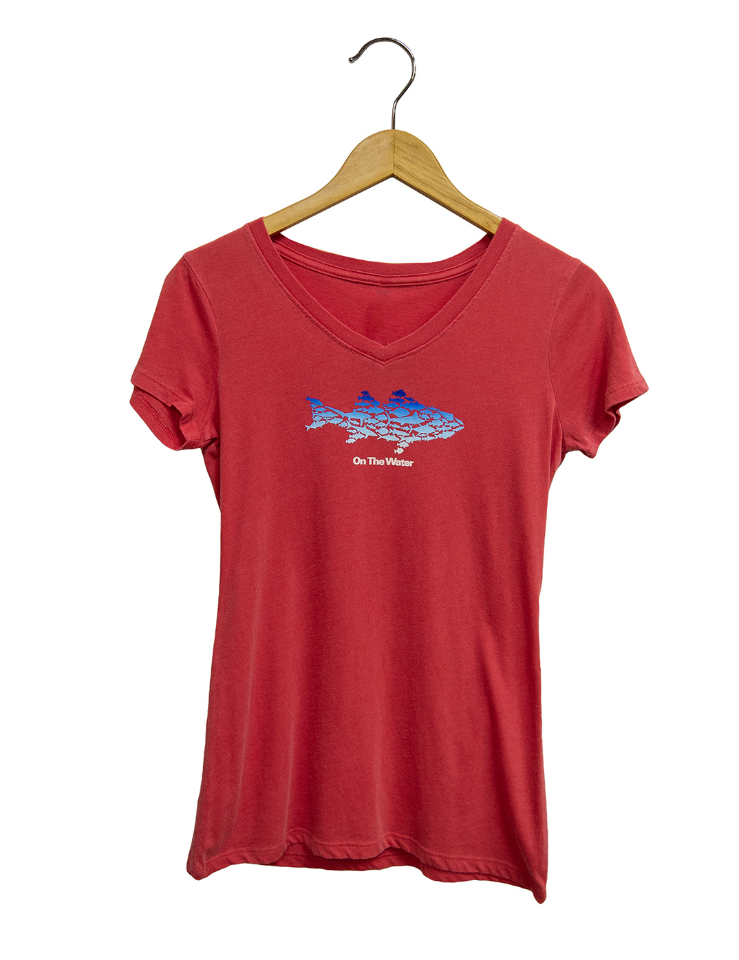 Ombre Multifish Vneck Tee