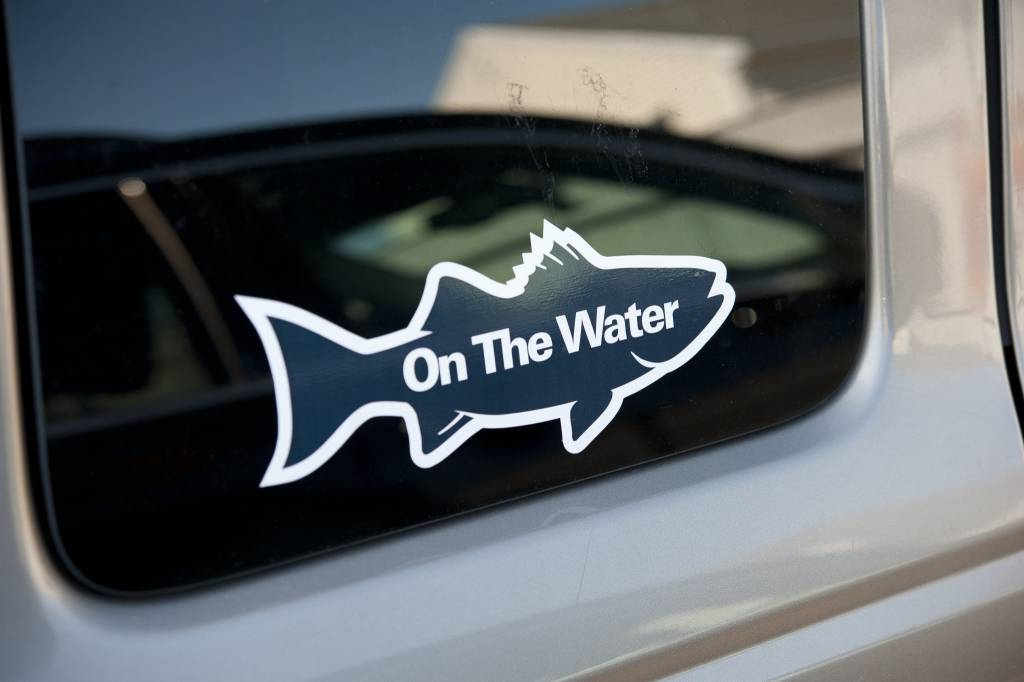 Striper Silhouette Sticker