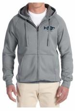 Retro Circle Full Zip Hooded Sweatshirt
