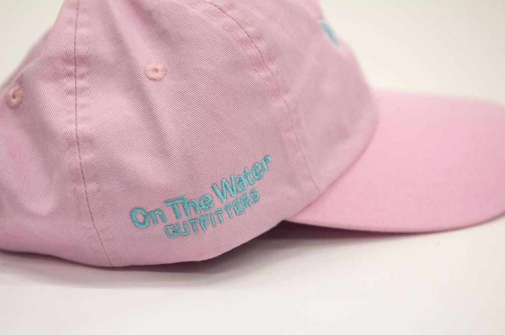Washed Striper Hat Oxford Pink