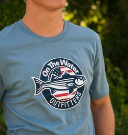 Stars and Stripers Tee - Steel Blue