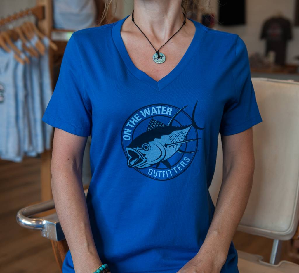 Screamin Tuna V Neck Womens Tee