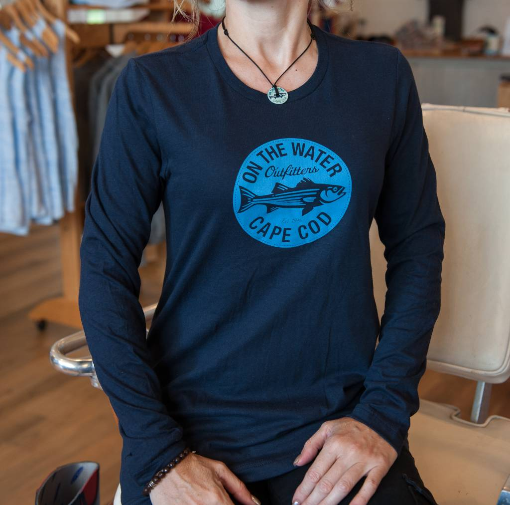 Retro Circle Striper L/S Women's Tee