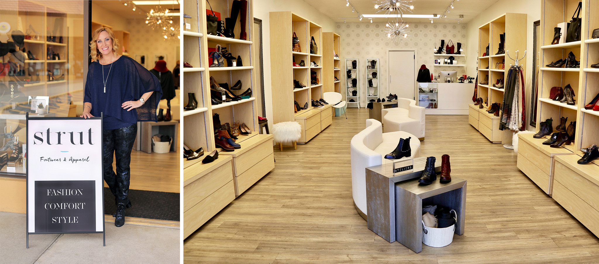 Interior of Strut Footwear & Apparel in Kelowna's sought-after Upper Mission.