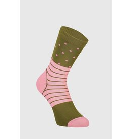 Mons Royale Mons Royale Women's Crew Sock Khaki Rose