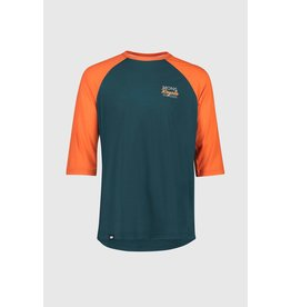 Mons Royale Mons Royale Men's Tarn Freeride Raglan 3/4 Atlantic/Orange