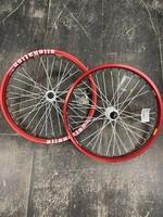 Ryder Custom Wheelset- Alienation Rim Red, White Hubs, White Spoke