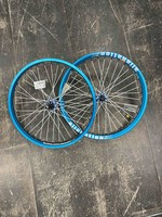 Alienation Ryder Custom Wheelset- Alienation Malice Blue Rim w Proper Blue Hubs, White Spokes