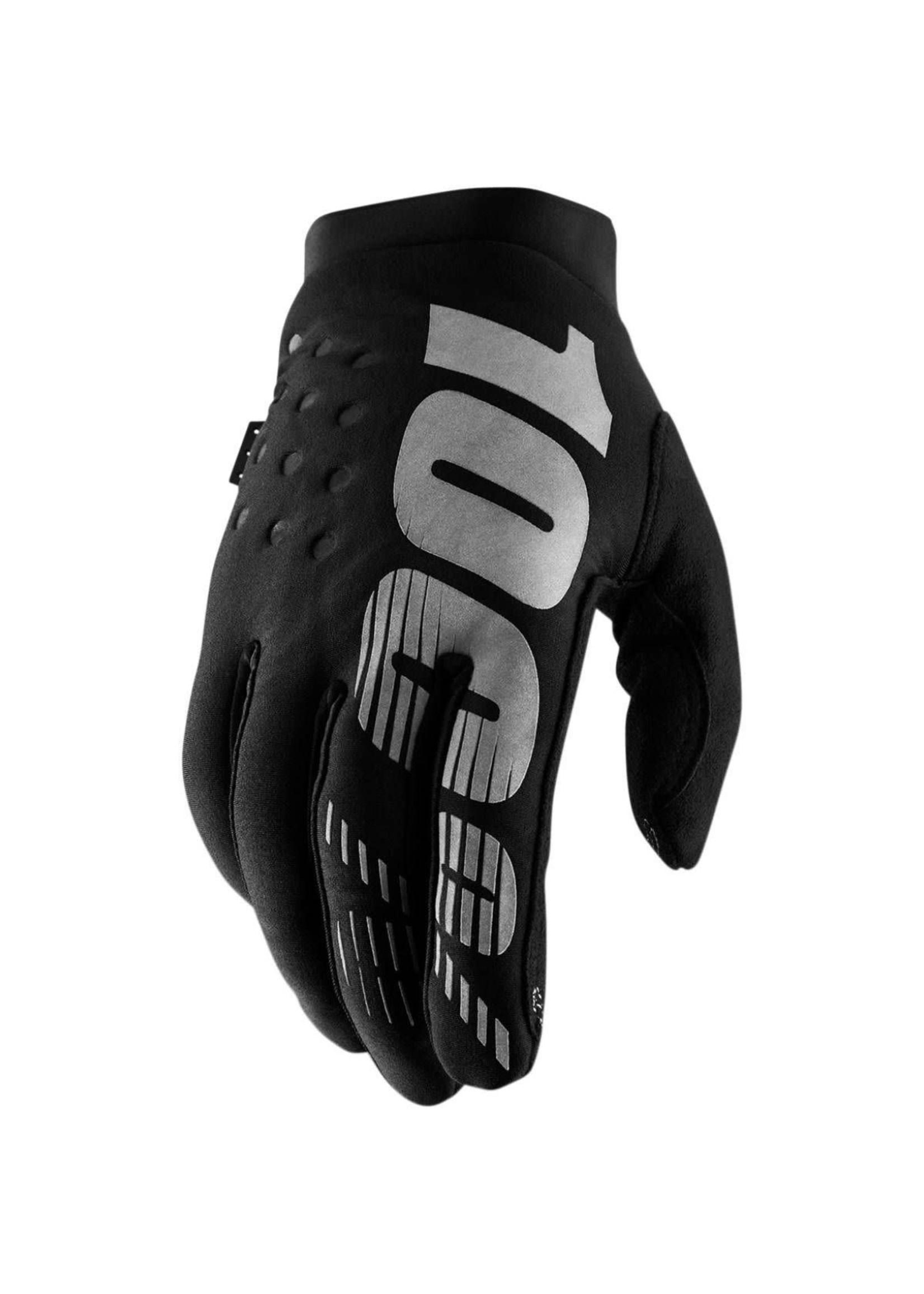 100% 100% Hydro Brisker Gloves, Black Large