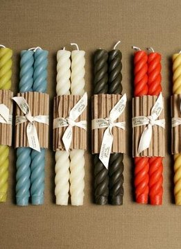 """Greentree Home 10"""" Rope Candle Pairs"""