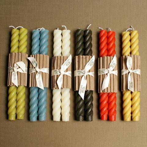 """Greentree Home Greentree 10"""" Rope Candle Pairs"""