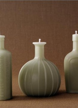 Greentree Home Bitters Faceted Bottle Candle