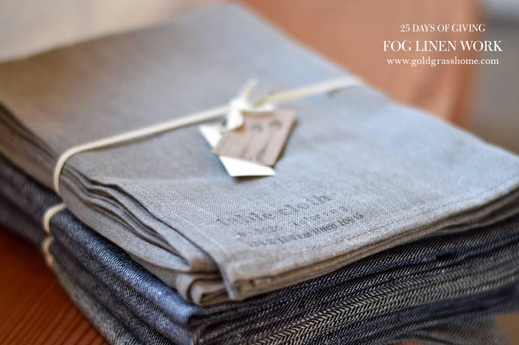 25 Days of Giving – Day 14: Fog Linen Work