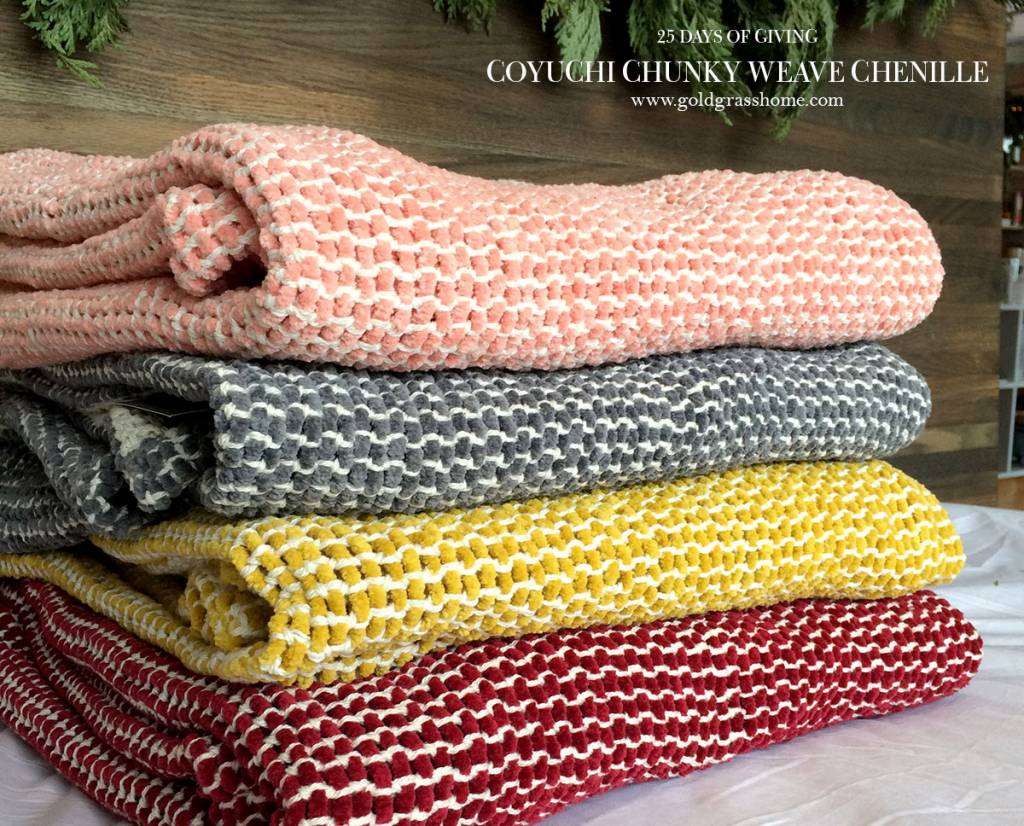 25 Days of Giving – Day 6: Coyuchi Chunky-Weave Chenille