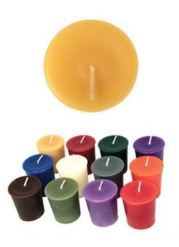 "Honey Candles 100% Beeswax 2"" Votive"