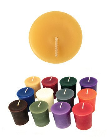 "Honey Candles Honey Candles - 100% Beeswax 2"" Votive - Natural"