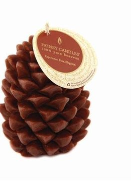 Honey Candles 100% Beeswax Ponderosa Pine Cone