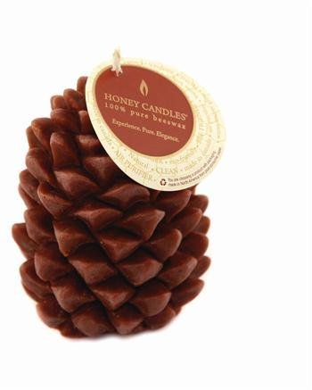 Honey Candles Honey Candles - 100% Beeswax Ponderosa Pine Cone