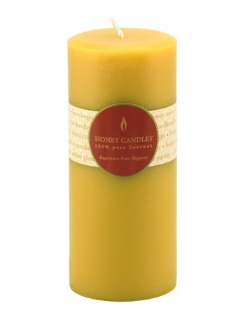 Honey Candles Honey Candles - 100% Beeswax Round Pillar