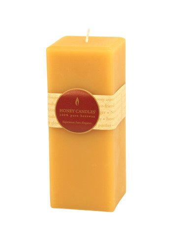 Honey Candles Honey Candles - 100% Beeswax Square Pillar