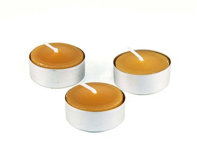 Honey Candles Honey Candles - 100% Beeswax Tealight Aluminum Cup - Pack of 6