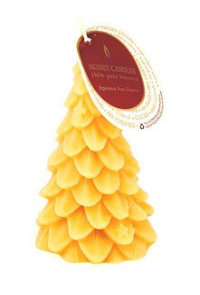 Honey Candles Honey Candles - 100% Beeswax Yule Tree