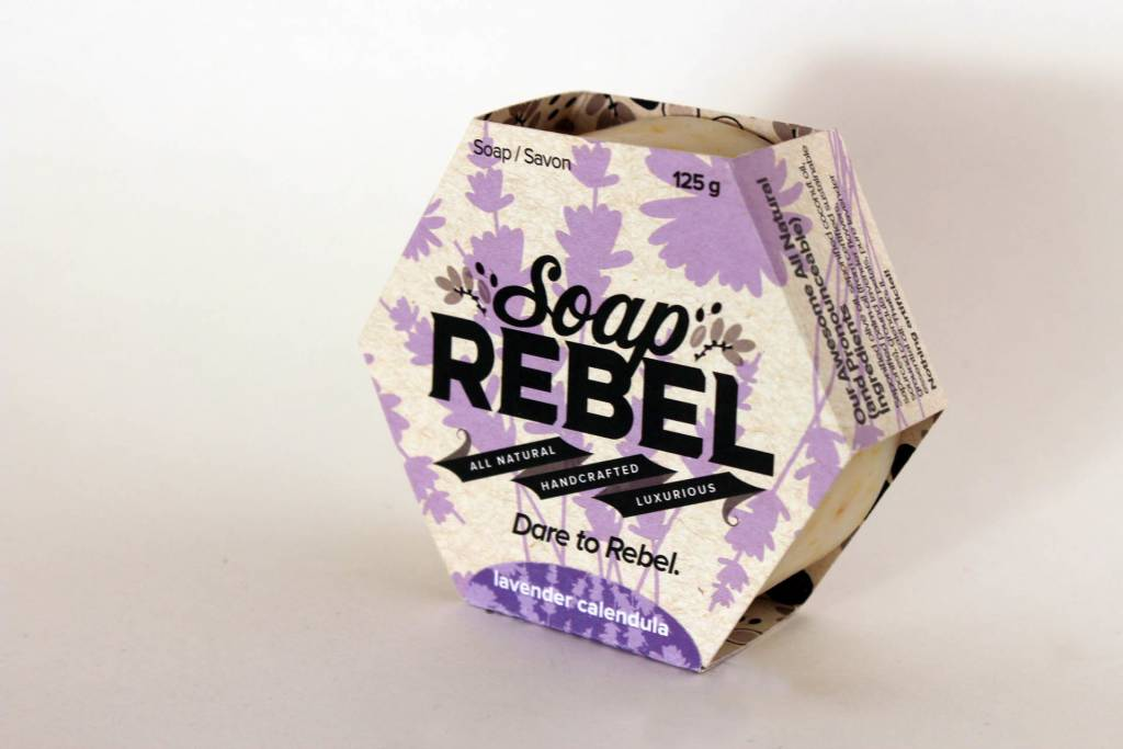 Soap Rebel - Bar Soap, 125g Lavender Calendula
