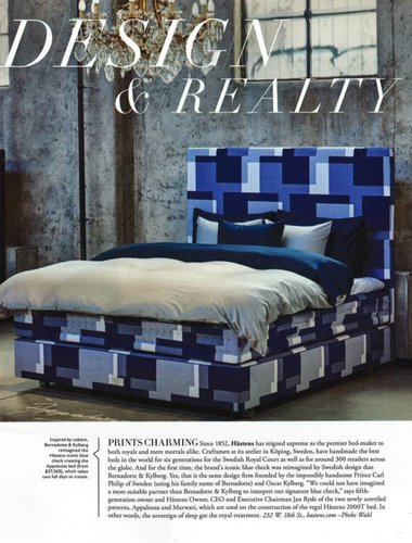 Check out the Limited Edition Hastens Fabrics from Bernadotte & Kylberg!