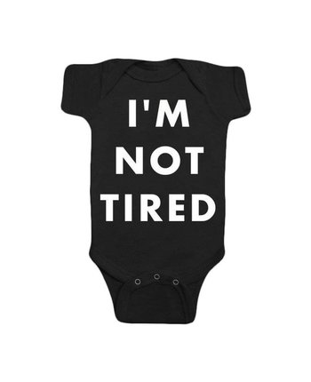 Hello Apparel Baby I'm Not Tired One Piece