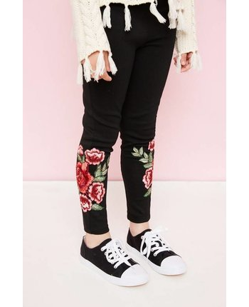 Floral Embroidered Legging