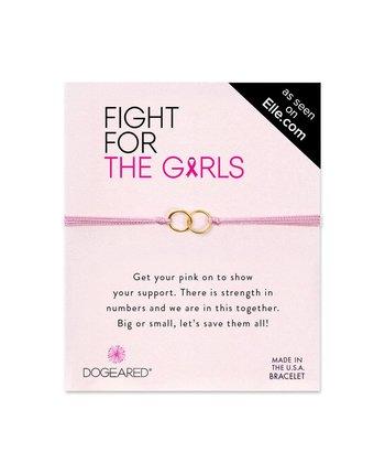 Dogeared Double Link Pink Bracelet