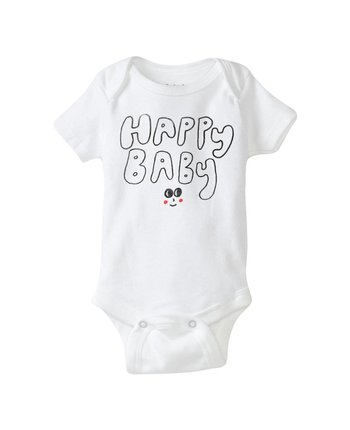 Hello Apparel Happy Baby Onesie
